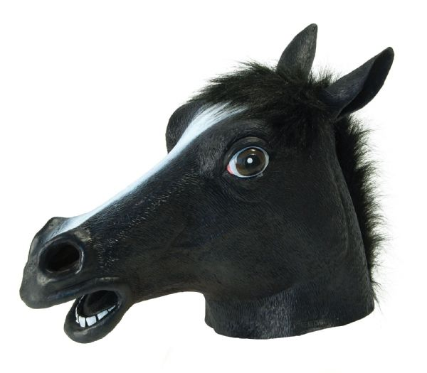 Black Beauty (Horse) Mask Fairytale Make Believe Fancy Dress
